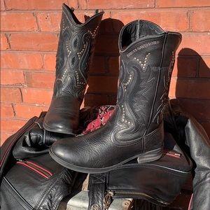 HARLEY DAVIDSON Studded Cowboy Biker Moto Boots